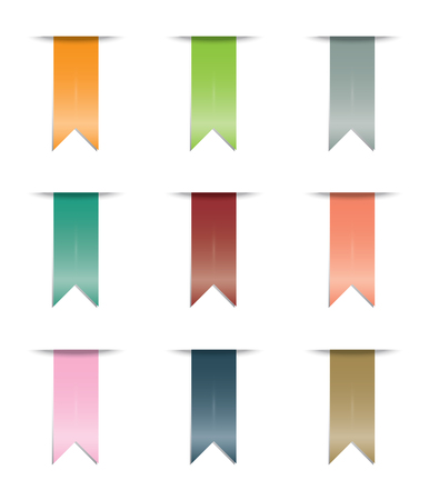 An Illustrated Colourful Ribbon Set Isolated photo
