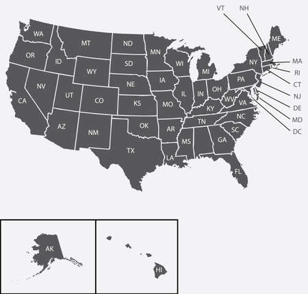 A Map of the the United States of America photo