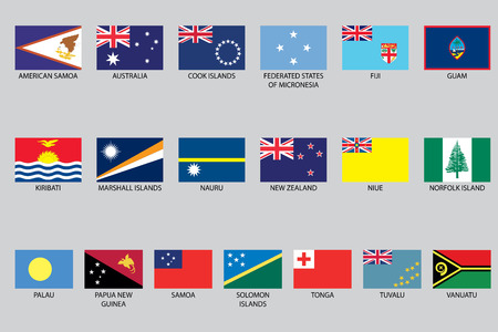 oceania: A Set of Infographic Elements for the Country of Oceania Illustration
