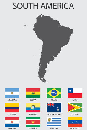 southamerica: A Set of Infographic Elements for the Country of SouthAmerica