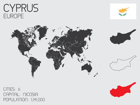 A Set of Infographic Elements for the Country of Cyprus photo