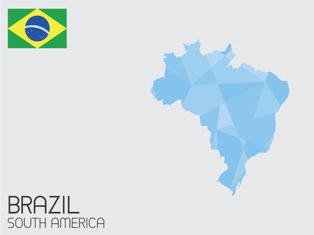 A Set of Infographic Elements for the Country of Brazil photo