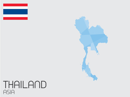 A Set of Infographic Elements for the Country of Thailand photo