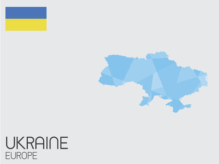 A Set of Infographic Elements for the Country of Ukraine photo