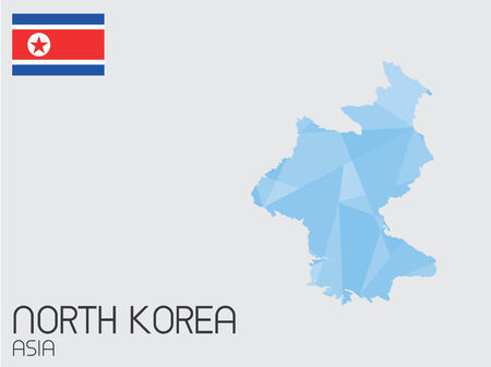 A Set of Infographic Elements for the Country of North Korea Vector