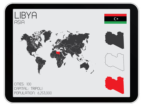 A Set of Infographic Elements for the Country of Libya Vector