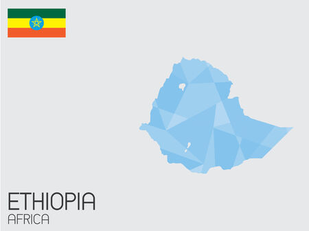A Set of Infographic Elements for the Country of Ethiopia Vector