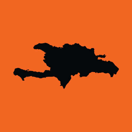 democratic: An Illustration on an Orange background of Democratic Republic
