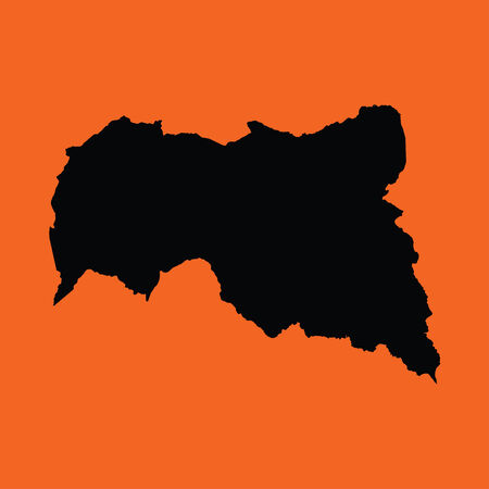 central african republic: An Illustration on an Orange background of Central African Republic