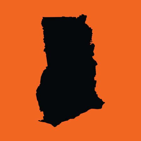 ghana: Une illustration sur fond orange du Ghana