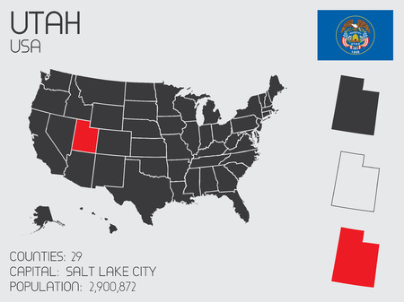 A Set of Infographic Elements for the State of Utah