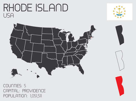 A Set of Infographic Elements for the State of Rhode Island photo
