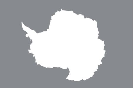 An Illustrated grayscale flag of the country of Antartica