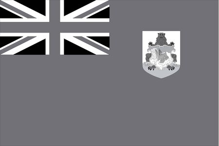 illustrated: An Illustrated grayscale flag of the country of Bermuda