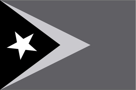 timor: An Illustrated grayscale flag of the country of East Timor Illustration