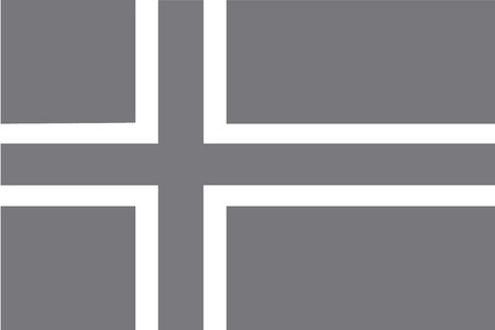 illustrated: An Illustrated grayscale flag of the country of Norway