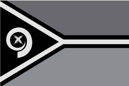 illustrated: An Illustrated grayscale flag of the country of Vanuatu Illustration