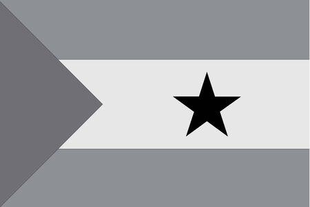 principe: Una bandera de escala de grises ilustrado del pa�s de Santo Tom� y Pr�ncipe
