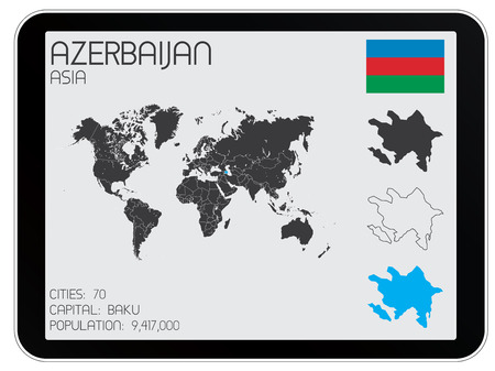 A Set of Infographic Elements for the Country of Azerbaijan Vector