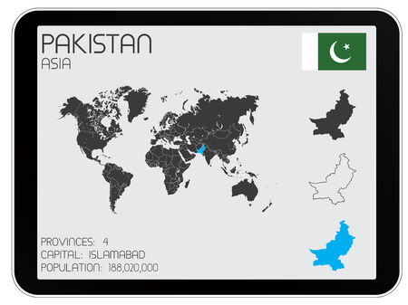 A Set of Infographic Elements for the Country of Pakistan Vector