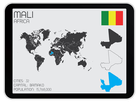 A Set of Infographic Elements for the Country of Mali Vector