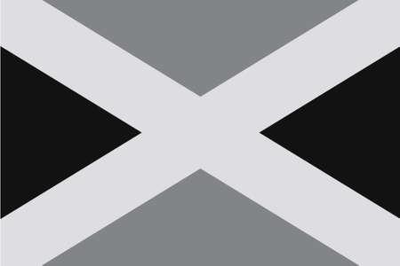 em tons de cinza: Uma bandeira em tons de cinza Ilustrado do pa