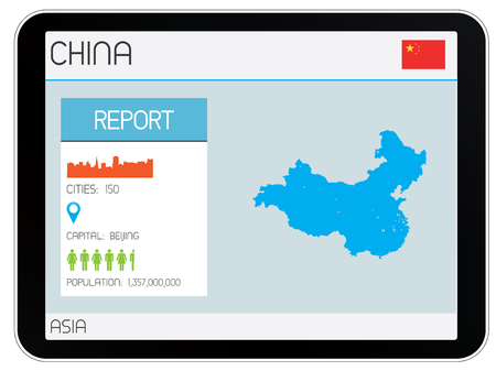 map of china: A Set of Infographic Elements for the Country of China