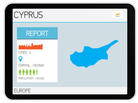 A Set of Infographic Elements for the Country of Cyprus Vector