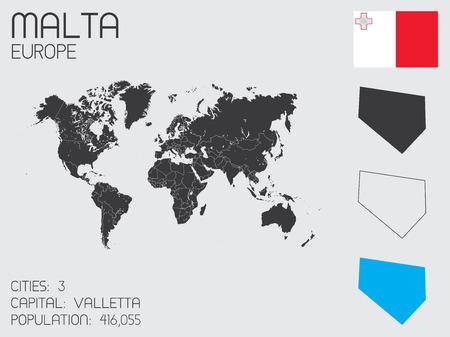 malta: Een set van Infographic elementen voor het Land van Malta