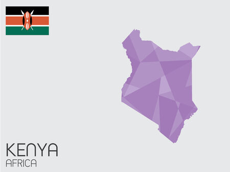 A Set of Infographic Elements for the Country of Kenya Vector
