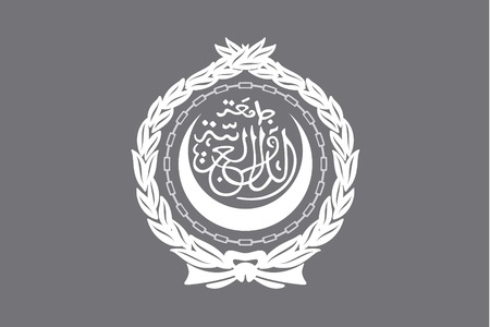 illustrated: An Illustrated grayscale flag of the country of Arab League Illustration