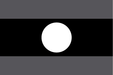 illustrated: An Illustrated grayscale flag of the country of Laos