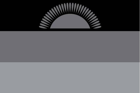malawi flag: An Illustrated grayscale flag of the country of Malawi