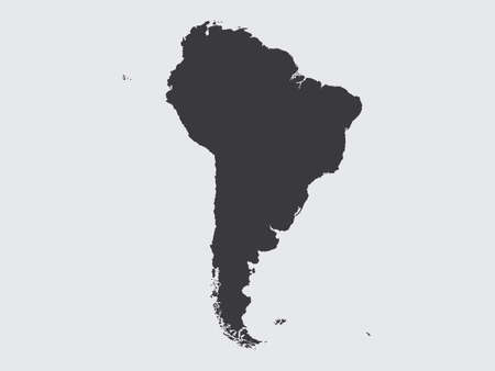 south america: The Shape of the Continent of  South America