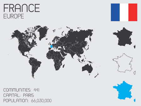 A Set of Infographic Elements for the Country of France photo