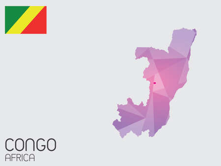 congo: A Set of Infographic Elements for the Country of Congo