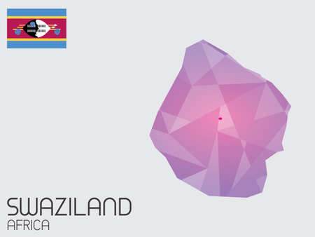 swaziland: A Set of Infographic Elements for the Country of Swaziland Stock Photo