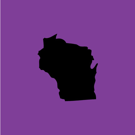 wisconsin: A Coloured background with the shape of the united states state of Wisconsin