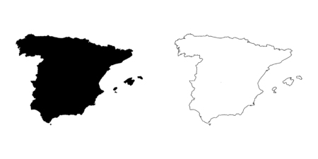 spain: An Illustration on a White background of Spain