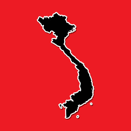 A Shape of the Country of  Vietnam photo