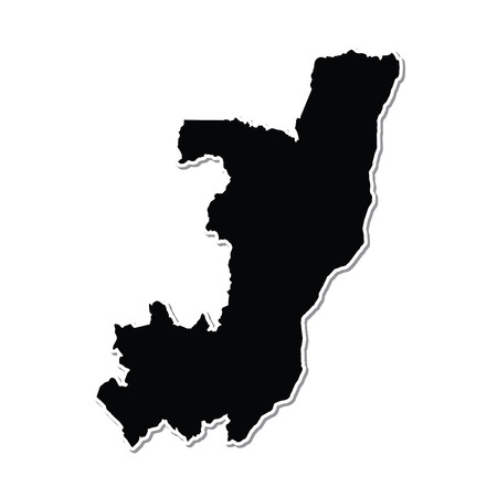 Shape of the Country of  Congo