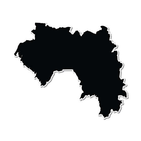guinea: Shape of the Country of  Guinea Stock Photo