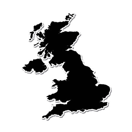 uk: Shape of the Country of  United Kingdom