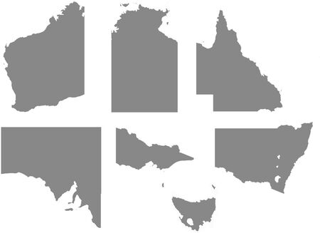 victoria: An Outline with regions of the Country of Australia