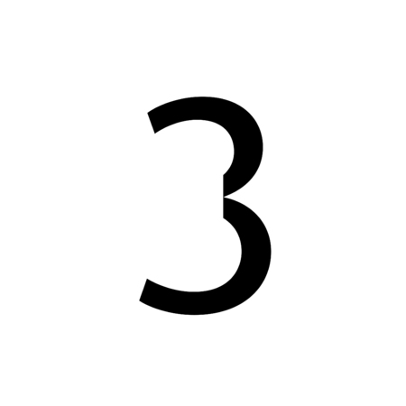 number 3: An Inividual Alphabet Characters of a Custom Font - Number 3 Stock Photo