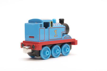 rev: CHESHIRE, UK - February 9 2015. Thomas the Tank Engine toy, based on children Editorial