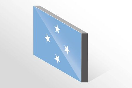 micronesia: A 3D Isometric Flag Illustration of the country of  Micronesia