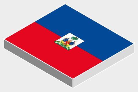 haiti: A 3D Isometric Flag Illustration of the country of  Haiti