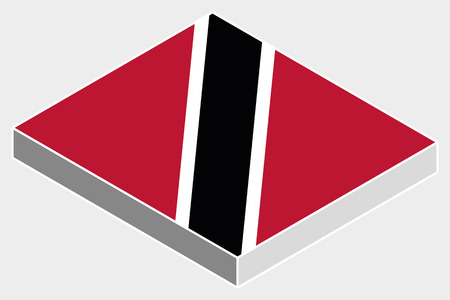 trinidad and tobago: A 3D Isometric Flag Illustration of the country of  Trinidad and Tobago