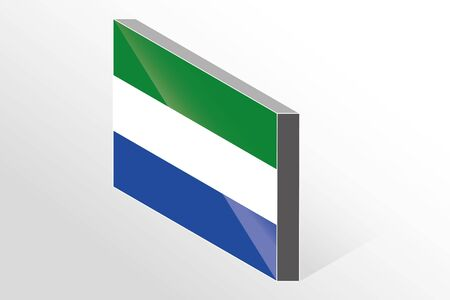 sierra: A 3D Isometric Flag Illustration of the country of  Sierra Leone